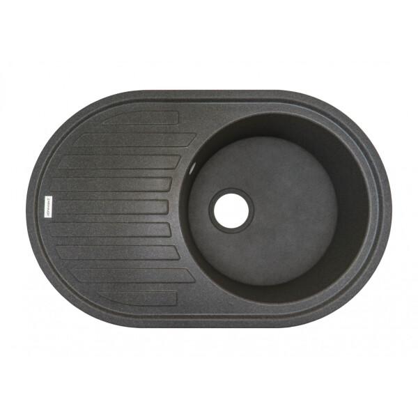 Купить Кухонные мойки, Кухонная мойка гранитная Adamant ELLIPSIS сірий-04