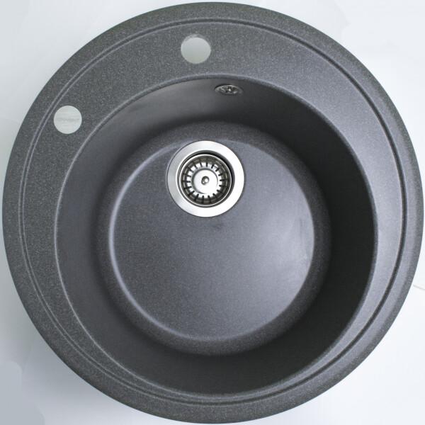 Купить Кухонные мойки, Кухонная мойка гранитная Adamant SUN сірий-04