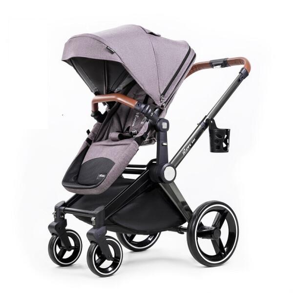 Купить Коляски, Универсальная коляска 2в1 Ninos Alba Melange Grey серый
