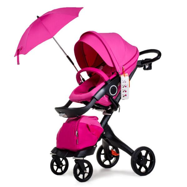 Купить Коляски, Универсальная коляска 2в1 DSLAND V8 Black-Pink розовый