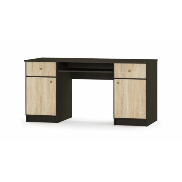 Купить Компьютерные столы, Мебель Сервис Фантазия 2Д2Ш 150, 2х74, 4х59, 8 венге темноедуб самоа, Мебель-Сервис