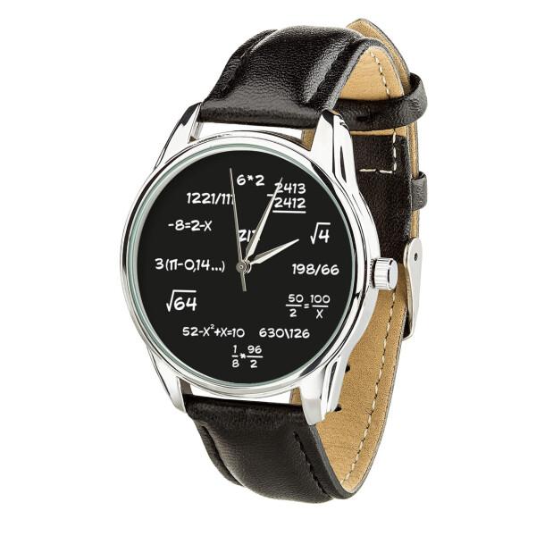 Купить Наручные часы, Часы ZIZ Математика (ремешок насыщенно - черный, серебро) + дополнительный ремешок