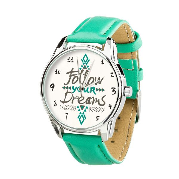 Купить Наручные часы, Часы ZIZ За своей мечтой (ремешок мятно - бирюзовый, серебро) + дополнительный ремешок