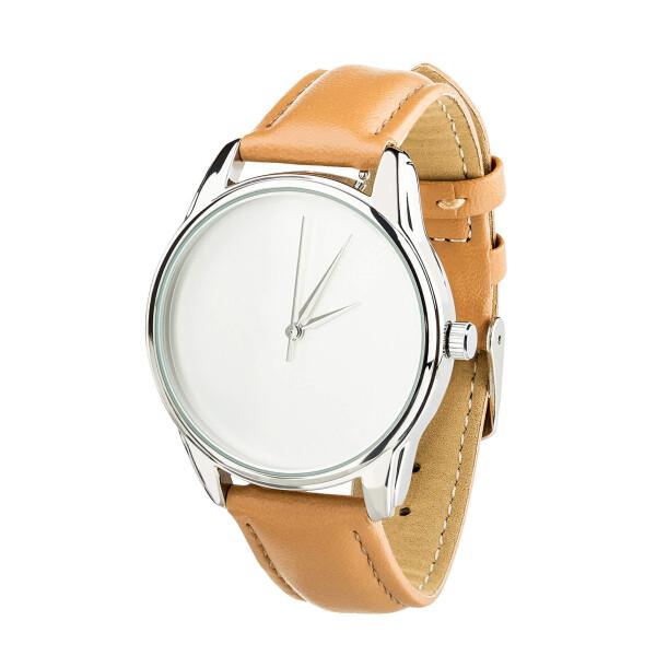 Купить Наручные часы, Часы ZIZ Минимализм (ремешок карамельно - коричневый, серебро) + дополнительный ремешок
