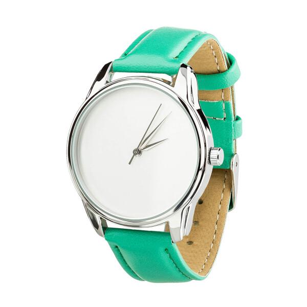 Купить Наручные часы, Часы ZIZ Минимализм (ремешок мятно - бирюзовый, серебро) + дополнительный ремешок