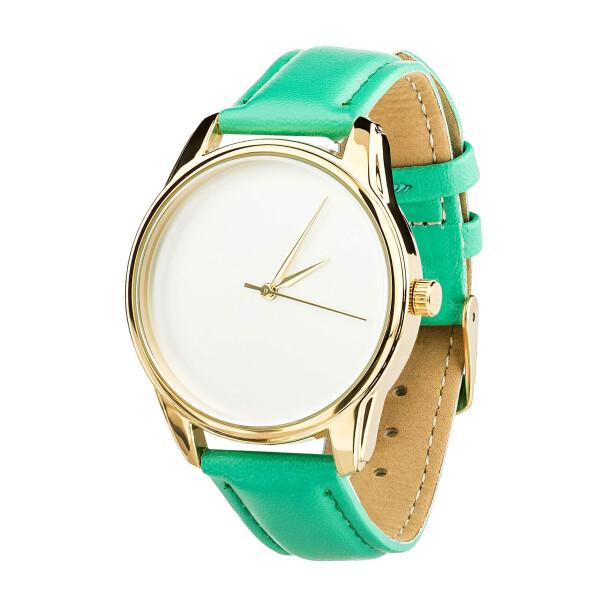 Купить Наручные часы, Часы ZIZ Минимализм (ремешок мятно - бирюзовый, золото) + дополнительный ремешок