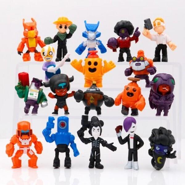 Купить Игровые наборы, Огромный игровой набор Бравл Старс (18 любимых героев) - фигурки новых персонажей игры, игрушки Brawl Stars (арт 8422).