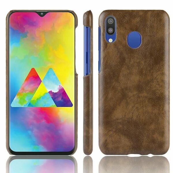 Купить Чехлы для телефонов, Защитный чехол Deexe Leather Back Cover для Samsung Galaxy M20 (M205) - Coffee