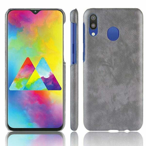 Купить Чехлы для телефонов, Защитный чехол Deexe Leather Back Cover для Samsung Galaxy M20 (M205) - Grey
