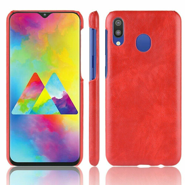 Купить Чехлы для телефонов, Защитный чехол Deexe Leather Back Cover для Samsung Galaxy M20 (M205) - Red