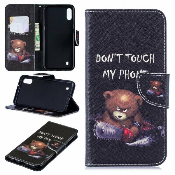 Купить Чехлы для телефонов, Чехол-книжка Deexe Color Wallet для Samsung Galaxy M10 (M105) - Bear And Its Warnings