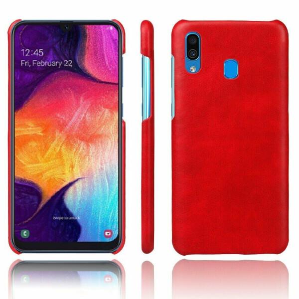 Купить Чехлы для телефонов, Защитный чехол Deexe Leather Back Cover для Samsung Galaxy A30 (A305) / A20 (A205) - Red