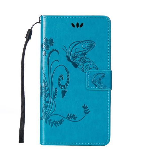 Купить Чехлы для телефонов, кожаный (книжка) Four-leaf Clover с визитницей для Meizu M8 (Синий) (680886), Epik