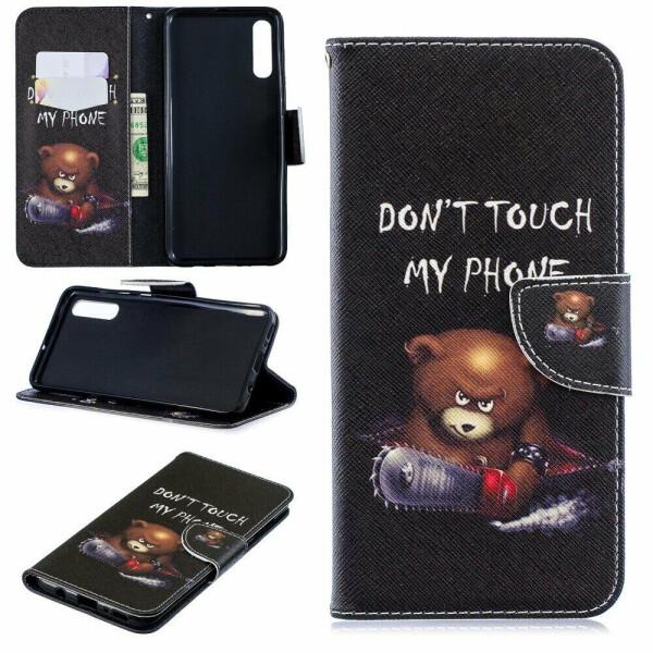 Купить Чехлы для телефонов, Чехол-книжка Deexe Color Wallet для Samsung Galaxy A70 (A705) - Bear And Its Warnings