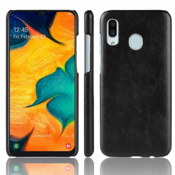 Купить Чехлы для телефонов, Защитный чехол Deexe Leather Back Cover для Samsung Galaxy A40 (А405) - Black