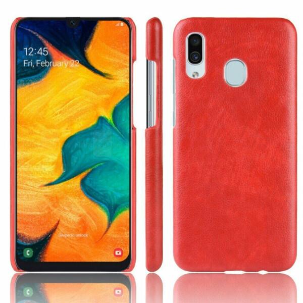 Купить Чехлы для телефонов, Защитный чехол Deexe Leather Back Cover для Samsung Galaxy A40 (А405) - Red