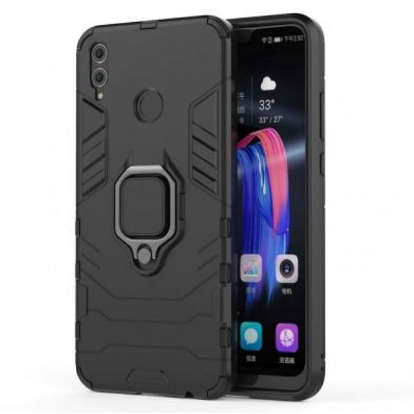 Купить Чехлы для телефонов, ударопрочный Transformer Ring под магнитный держатель для Huawei P Smart (2019) (Черный / Soul Black) (682491), Epik