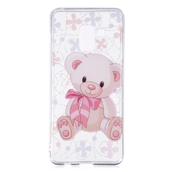 Купить Чехлы для телефонов, Силиконовый (TPU) чехол Deexe Pretty Glossy для Samsung Galaxy A8 (A530) - Bear