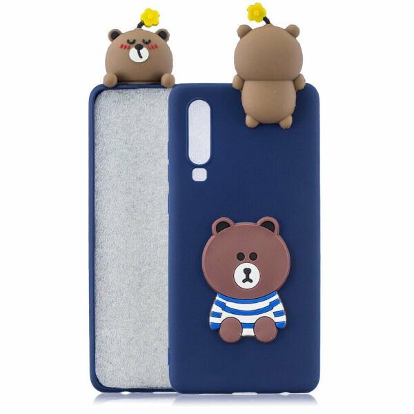 Купить Чехлы для телефонов, Силиконовый (TPU) чехол UniCase 3D Cartoon Pattern для Samsung Galaxy A70 (A705) - Bear