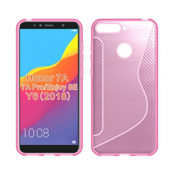 Купить Чехлы для телефонов, Силиконовый (TPU) чехол Deexe S Line для Huawei Y6 Prime 2018 / Honor 7A Pro - Pink