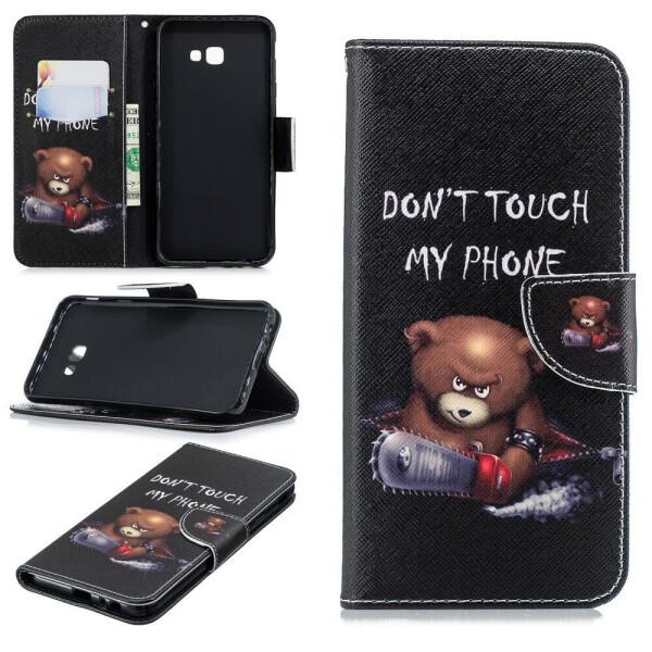 Купить Чехлы для телефонов, Чехол-книжка Deexe Color Wallet для Samsung Galaxy J4+ (J415) - Bear And Its Warnings