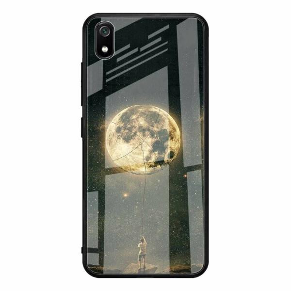 Купить Чехлы для телефонов, Защитный чехол UniCase Pattern Glass Back для Xiaomi Redmi 7A - Boy and Moon