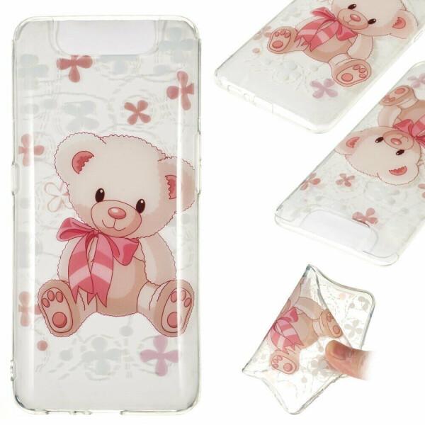 Купить Чехлы для телефонов, Силиконовый (TPU) чехол Deexe Pretty Glossy для Samsung Galaxy A80 (A805) - Bear