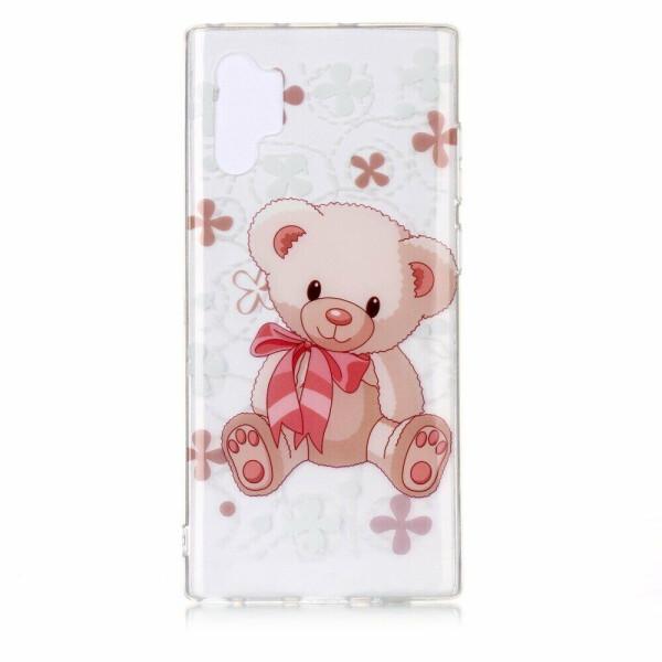 Купить Чехлы для телефонов, Силиконовый (TPU) чехол Deexe Pretty Glossy для Samsung Galaxy Note 10+ (N975) - Bear