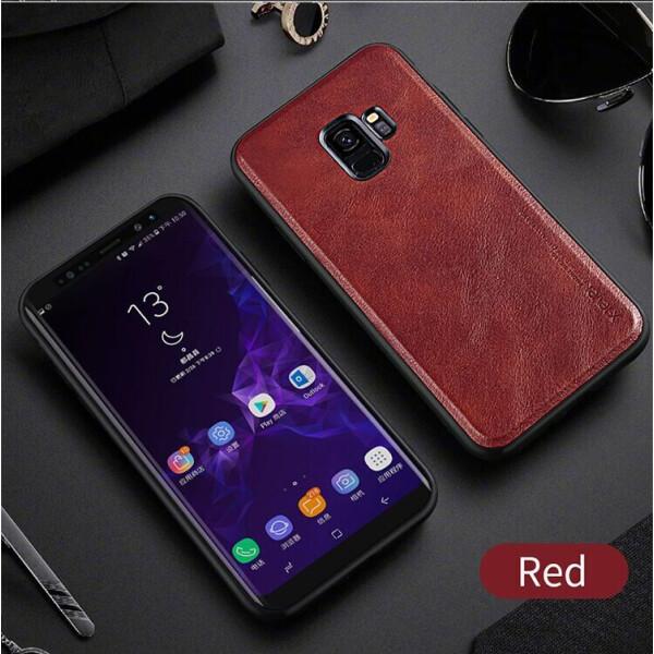 Купить Чехлы для телефонов, Защитный чехол X-LEVEL Leather Back Cover для Samsung Galaxy S9 (G960) - Red