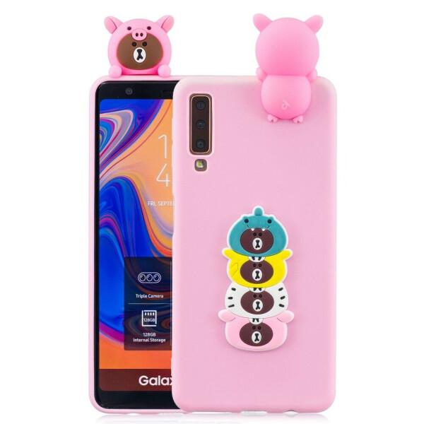 Купить Чехлы для телефонов, Силиконовый (TPU) чехол UniCase 3D Pattern для Samsung Galaxy A7 2018 (A750) - Cartoon Bear
