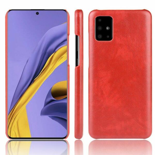 Купить Чехлы для телефонов, Защитный чехол Deexe Leather Back Cover для Samsung Galaxy A51 (A515) - Red