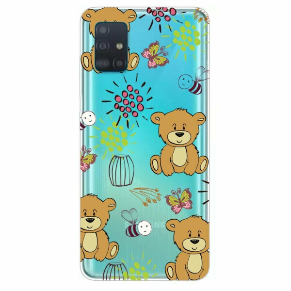 Купить Чехлы для телефонов, Силиконовый (TPU) чехол Deexe Pretty Glossy для Samsung Galaxy A71 (A715) - Bear
