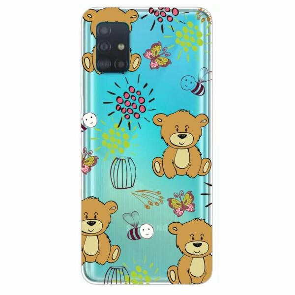 Купить Чехлы для телефонов, Силиконовый (TPU) чехол Deexe Pretty Glossy для Samsung Galaxy A51 (А515) - Bear