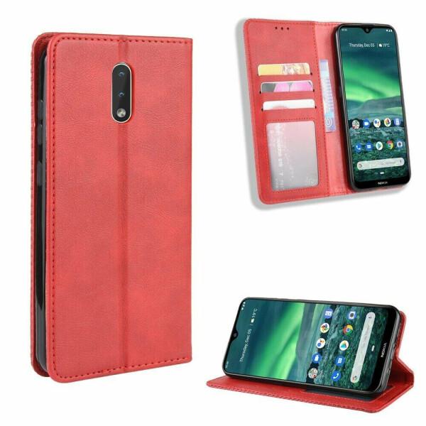 Чехол Deexe Retro Style для Nokia 2.3 - Red