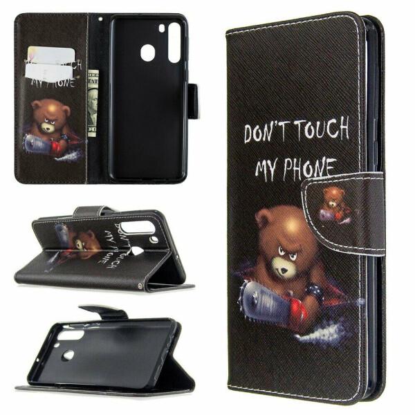 Купить Чехлы для телефонов, Чехол-книжка Deexe Color Wallet для Samsung Galaxy A21 (A215) - Bear