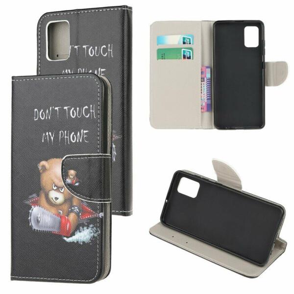 Купить Чехлы для телефонов, Чехол-книжка Deexe Color Wallet для Samsung Galaxy A41 (A415) - Bear
