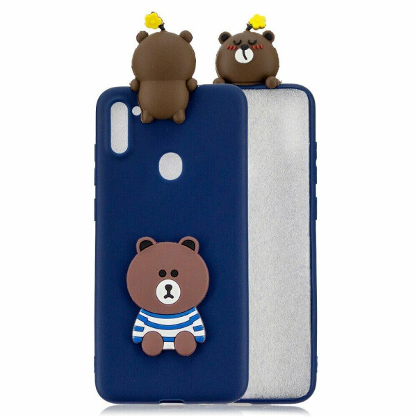 Купить Чехлы для телефонов, Силиконовый (TPU) чехол UniCase 3D Pattern для Samsung Galaxy A11 (A115) - Bear