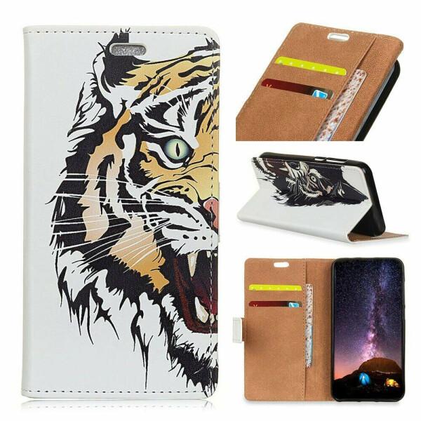 Чехол Deexe Life Style Wallet для Nokia 5.3 - Tiger