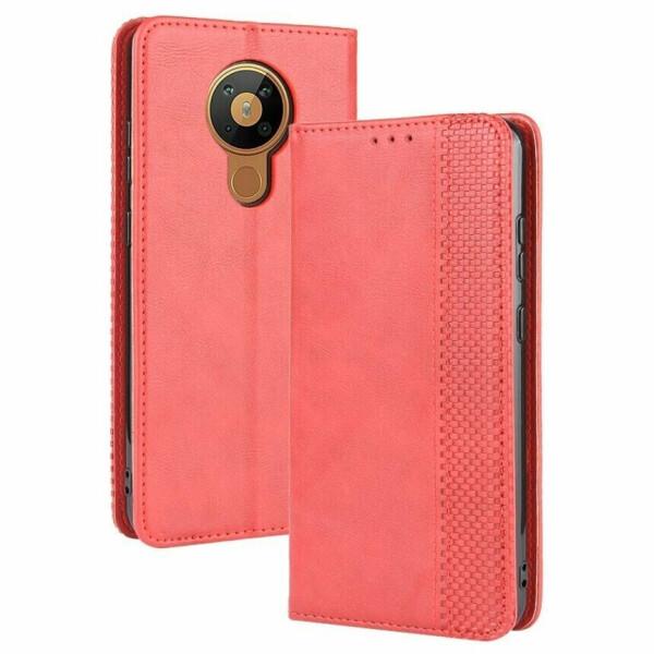 Чехол Deexe Retro Style для Nokia 5.3 - Red