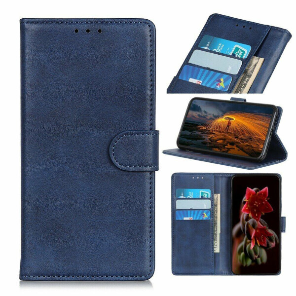 Чехол Deexe Classic Wallet для Nokia 5.3 - Blue