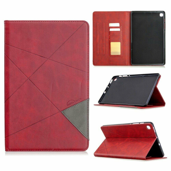 Чехол UniCase Geometric Pattern для Samsung Galaxy Tab S6 lite 10.4 (P610/615) - Red