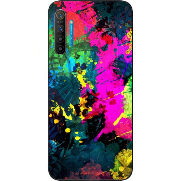 Купить Чехлы для телефонов, Силиконовый чехол бампер Amstel для Realme XT с картинкой Яркая абстракция