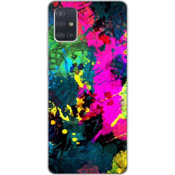 Купить Чехлы для телефонов, Силиконовый чехол бампер Amstel для Samsung A51 2020 Galaxy A515 с картинкой Яркая абстракция