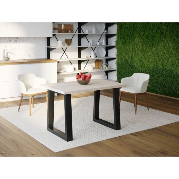 Купить Обеденные столы, Обеденный стол Skandi Wood SW045 Делавэр 120 х 80 х 75 см МДФ+Шпон Дуб Белый (SW04512875WhOMDF)
