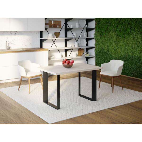 Купить Обеденные столы, Обеденный стол Skandi Wood SW047 Иллинойс 120 х 80 х 75 см МДФ+Шпон Дуб Белый (SW04712875WhOMDF)