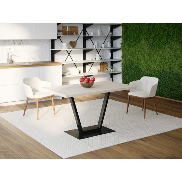 Купить Обеденные столы, Обеденный стол Skandi Wood SW057 Мэн 120 х 80 х 75 см МДФ+Шпон Дуб Белый (SW05712875WhOMDF)