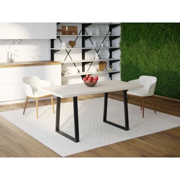 Купить Обеденные столы, Обеденный стол Skandi Wood SW073 Род-Айленд 120 х 80 х 75 см МДФ+Шпон Дуб Белый (SW07312875WhOMDF)