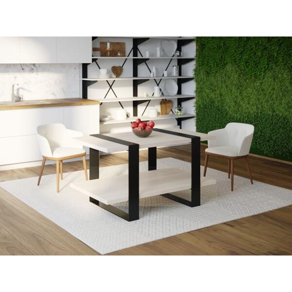 Купить Обеденные столы, Обеденный стол Skandi Wood SW081 Конкорд 120 х 80 х 75 см МДФ+Шпон Дуб Белый (SW08112875WhOMDF)