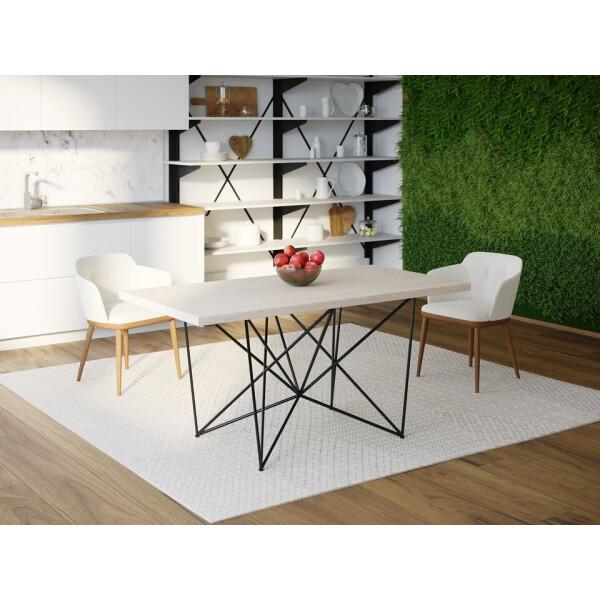 Купить Обеденные столы, Обеденный стол Skandi Wood SW078 Сейлем 120 х 80 х 75 см МДФ+Шпон Дуб Белый (SW07812875WhOMDF)