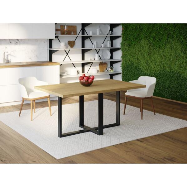 Купить Обеденные столы, Обеденный стол Skandi Wood SW099 Роли 120 х 80 х 75 см МДФ+Шпон Дуб Натуральный (SW09912875NaOMDF)